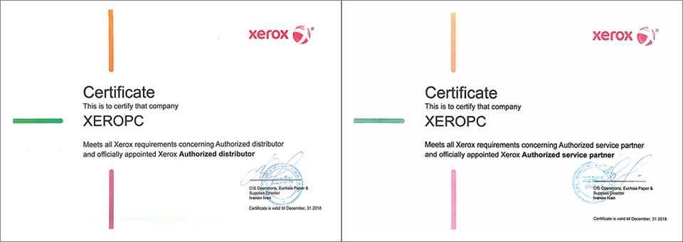 Xerox Authorised Partner and Xerox Authorised Service Partner